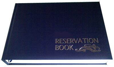 Sample Restaurant Reservation Book